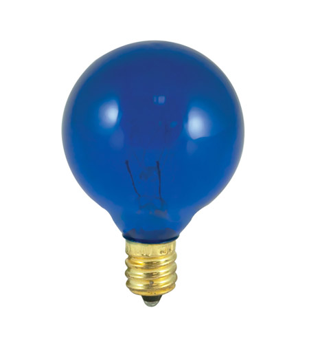 Bulbrite 10G12B Colored Bulbs Incandescent G12 E12 10 watt 130V 2700K Bulb in Blue photo