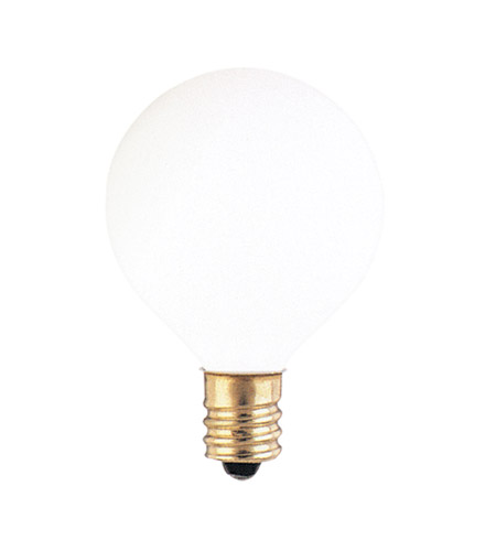 Bulbrite 15G12WH Globes Incandescent G12 E12 15 watt 130V 2700K Bulb in White photo