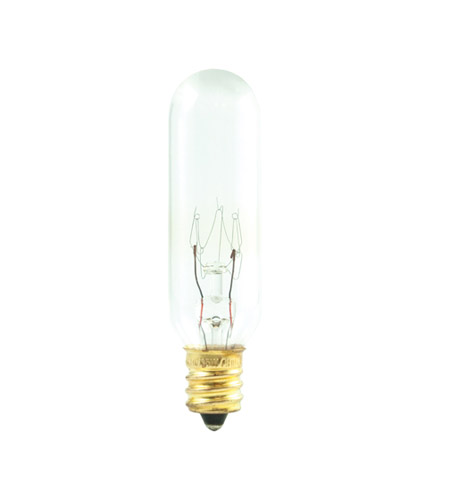 Bulbrite 15T6/4 Tubular Incandescent T6 E12 15 watt 145V 2700K Bulb photo