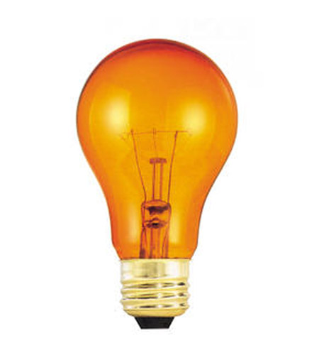 Bulbrite 25A/TO Colored Bulbs Incandescent A19 E26 25 watt 120V 2700K Bulb in Transparent Orange photo