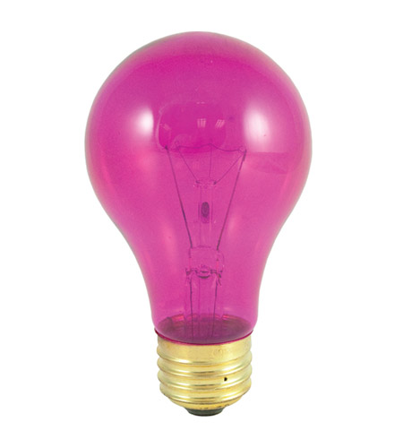 Bulbrite 25A/TP Colored Bulbs Incandescent A19 E26 25 watt 120V 2700K Bulb in Transparent Pink photo
