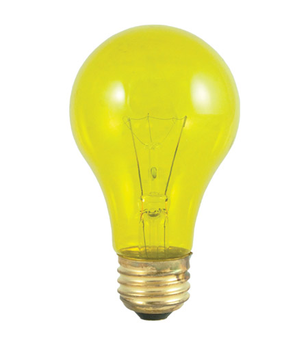 Bulbrite 25A/TY Colored Bulbs Incandescent A19 E26 25 watt 120V 2700K Bulb in Transparent Yellow photo