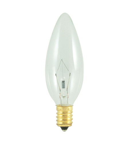 Bulbrite 25CTC/E14 Chandelier Incandescent B10 E14 25 watt 130V 2700K Bulb in Clear photo