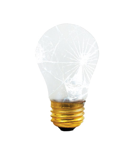 Bulbrite 40A15/TF Rough Service/Tough Coat Incandescent A15 E26 40 watt 130V 2700K Bulb photo