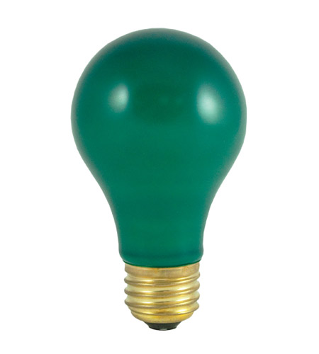 Bulbrite 40A/CG Colored Bulbs Incandescent A19 E26 40 watt 120V 2700K Bulb in Ceramic Green photo