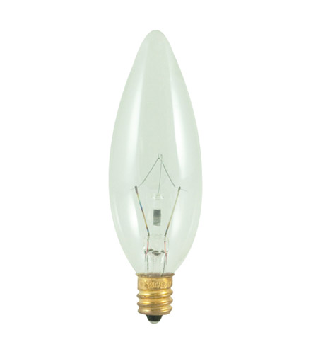 Bulbrite 40W 120V Incandescent Torpedo Chandelier Bulb, 32mm, Clear 40CTC/32/2 photo