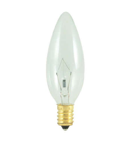Bulbrite 40CTC/E14/HV Incandescent Dimmable Incandescent B10 E14 40 watt 220V 2700K Bulb in Clear photo