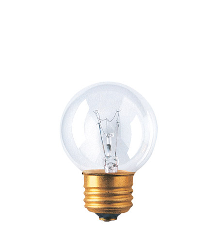 Bulbrite 40G16ECL Globes Incandescent G16 1/2 E26 40 watt 125V 2700K Bulb in Clear photo