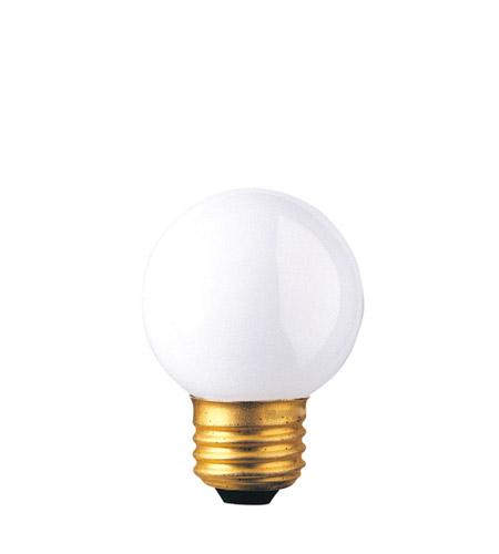 Bulbrite 40W G16 Globe 120V Medium Base Light Bulb, White 40G16EWH photo