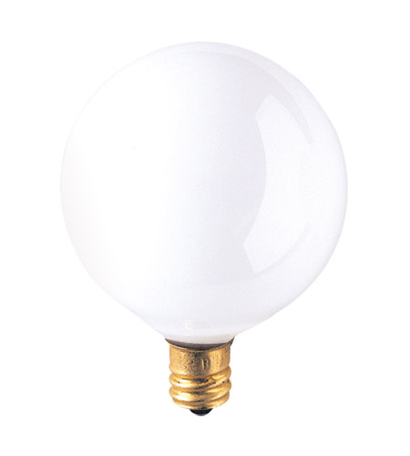 Bulbrite 40G16WH3 Globes Incandescent G16 1/2 E12 40 watt 130V 2700K Bulb in White photo