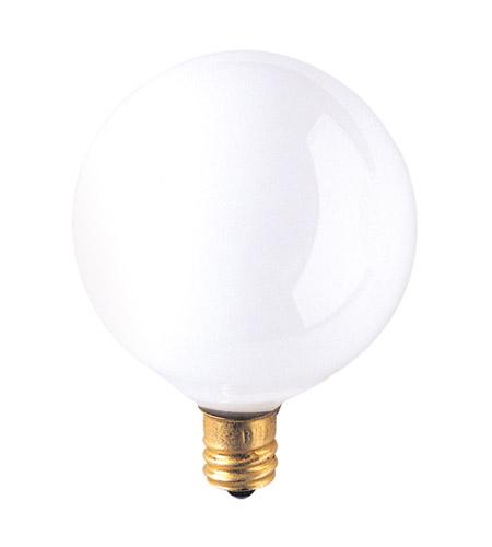 Bulbrite 40W G16 Globe 130V Candelabra Light Bulb, White 40G16WH3 photo