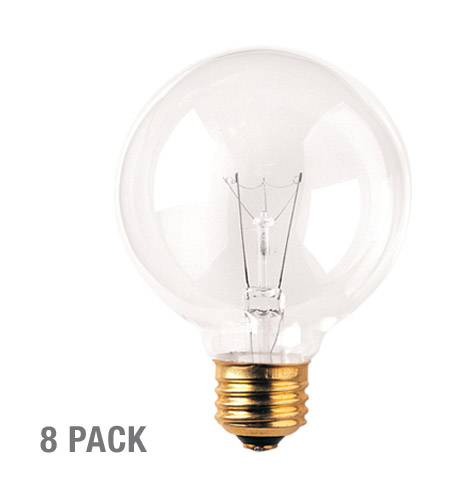 Bulbrite 40G25CL2-8PK Globes Incandescent G25 E26 40 watt 120V 2700K Bulb in 8, Clear photo