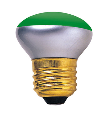 Bulbrite 40R14G Colored Bulbs Incandescent R14 E26 40 watt 120V Bulb in Green photo