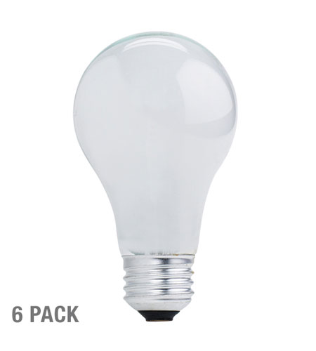 Bulbrite 43A19SW/ECO-6PK General Service Halogen A19 E26 43 watt 120V 2900K Bulb in White photo