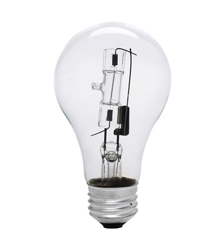 Bulbrite 53A19CL/ECO General Service Halogen A19 E26 53 watt 120V 2900K Bulb in Clear photo