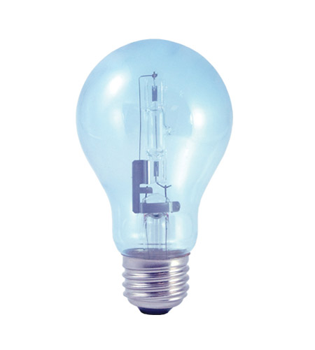 Bulbrite 53A19CL/N/ECO True Daylight Halogen A19 E26 53 watt 120V 2700K Bulb in Clear photo