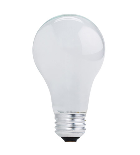 Bulbrite 53A19SW/ECO General Service Halogen A19 E26 53 watt 120V 2900K Bulb in White photo