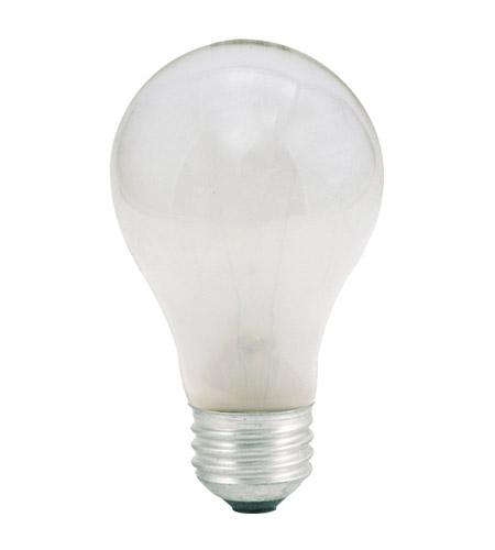 Bulbrite 60W 130V Long Life Standard Incandescent A19 2-Pack, Frost 60A photo