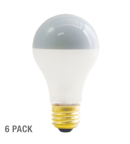 Bulbrite Inside Frost Half Chrome 60W A Shape Bulb, 6-Pack 60A19F/SB-6PK photo