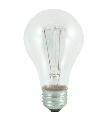 Bulbrite 60W 130V Long Life Standard Incandescent A19 2-Pack, Clear 60A/CL photo