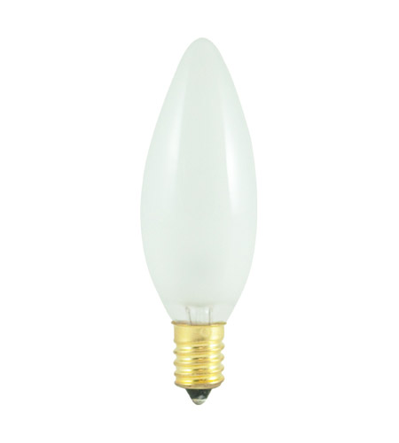 Bulbrite 60-Watt Incandescent Torpedo Chandelier Bulb, European (E14) Base, Frost 60CTF/E14 photo