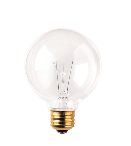 Bulbrite 60W G25 Globe 130V Medium Base Light Bulb, Clear 60G25CL3 photo