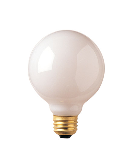 Bulbrite 60G25WH2 Incandescent Dimmable Incandescent G25 E26 60 watt 120V 2700K Bulb in White photo