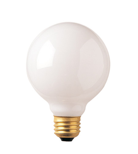 Bulbrite 60G30WH Incandescent Dimmable Incandescent G30 E26 60 watt 125V 2700K Bulb in White  photo