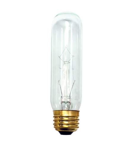 Bulbrite 60T10C Tubular Incandescent T10 E26 60 watt 130V 2700K Bulb in Clear photo