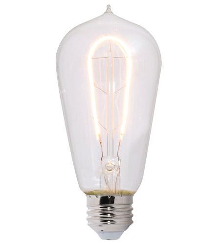 Bulbrite LED4ST18/22K/FIL-NOS/CURV/1890 Nostalgic LED ST18 Filament 4.00 watt 120V 2200K Bulb, Curved