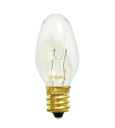 bulbrite 7c7c holiday incandescent c7 e12 7 watt 120v 2700k christmas bulb in clear photo