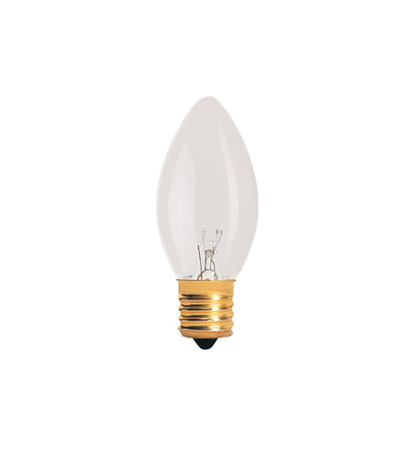 Bulbrite 7C9C-25PK Night Light Incandescent C9 E17 7 watt 120V 2700K Bulb in Clear, 25