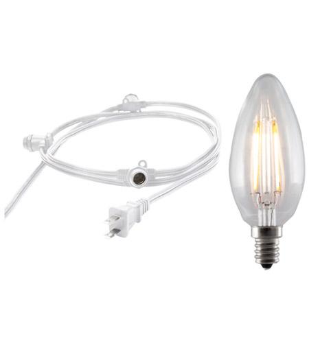 Bulbrite String15 E12 White Led2b11 Kt Signature 15 Light Led 25 Foot Outdoor String Lights