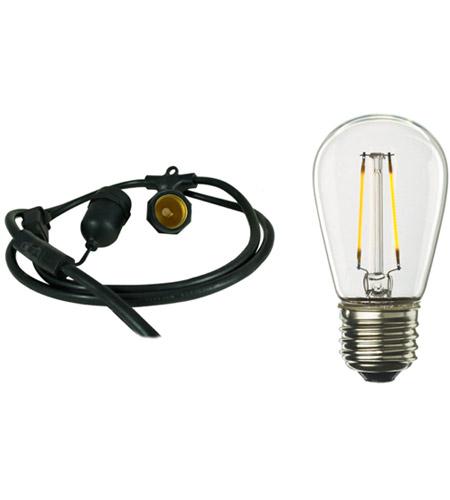 Bulbrite String15 E26 Black Led2s14 Kt Signature 15 Light Led 48 Foot Outdoor String Lights