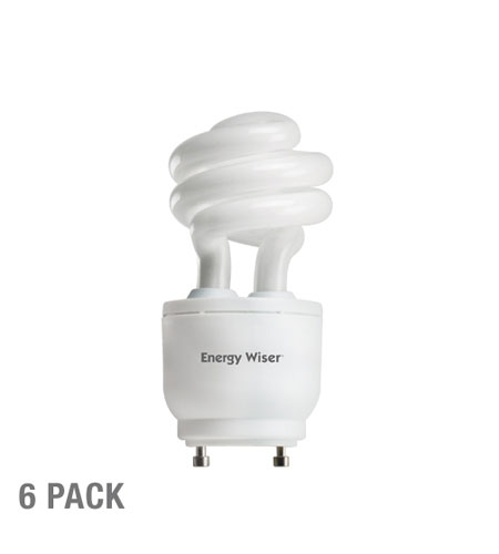 Bulbrite 13W 120V Energy Wiser Dimmable Compact Fluorescent Coil, GU24 Base, Warm White, 6-Pack CF13WW/GU24/DM-6PK photo