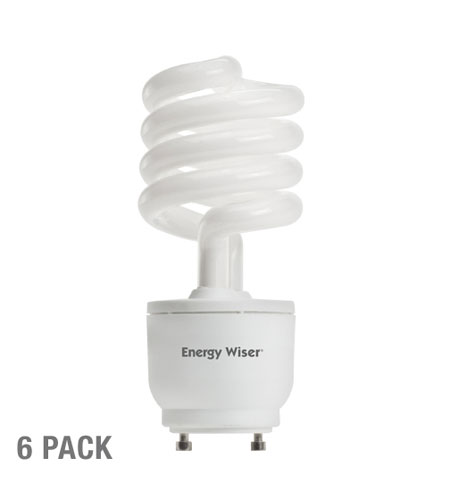 Bulbrite 23W 120V Energy Wiser Dimmable Compact Fluorescent Coil, GU24 Base, Warm White, 6-Pack CF23WW/GU24/DM-6PK photo