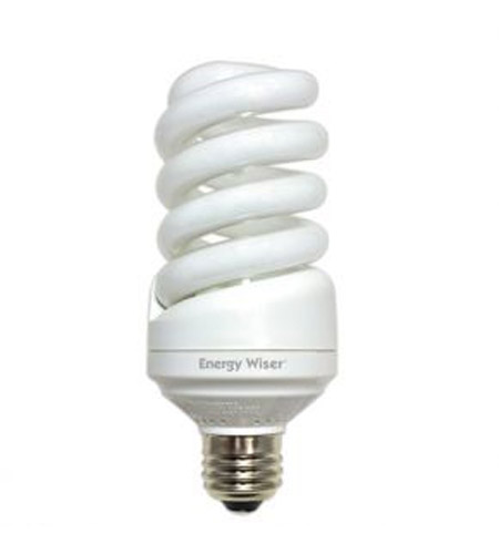 Bulbrite CF25C/TIO2 Compact Fluorescent / CFL Non-Dimmable Compact Fluorescent T2 E26 25 watt 120V 2800K Bulb photo