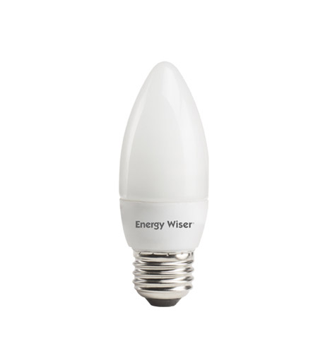 Bulbrite 7W Compact Fluorescent Torpedo Style Chandelier Bulb Medium Base, Soft White CF7/ETW