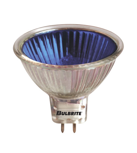 Bulbrite EXN/B MRs Halogen MR16 GU5.3 50 watt 12V 2700K Bulb in Blue, Flood photo