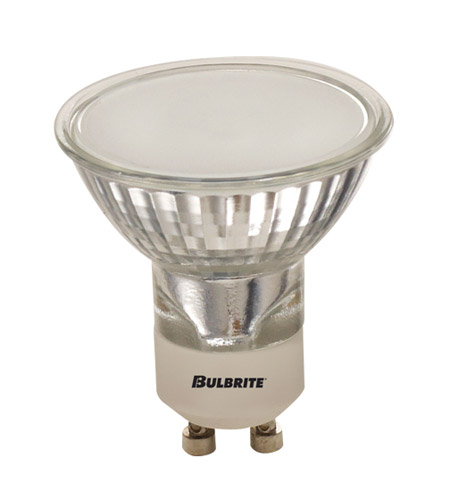 Bulbrite EXN/GU10/FR MRs Halogen MR16 GU10 50 watt 120V 2700K Bulb in Frost, 2850k, Flood photo