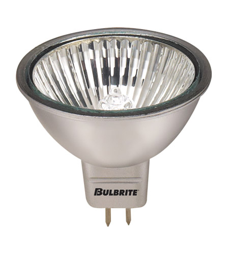 Bulbrite EXN/SLV/24 MRs Halogen MR16 GU5.3 50 watt 24V 2700K Bulb in Silver, Flood photo