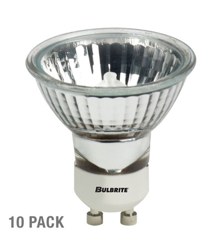Bulbrite 35W 120V Halogen, MR16 Lensed GU10 Base, Flood, 10-Pack FMW/GU10-10PK photo