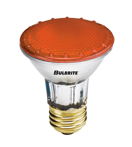 Bulbrite H50PAR20A-4PK PARs Colors Halogen PAR20 E26 50 watt 120V 2900K Bulb, Pack of 4 photo