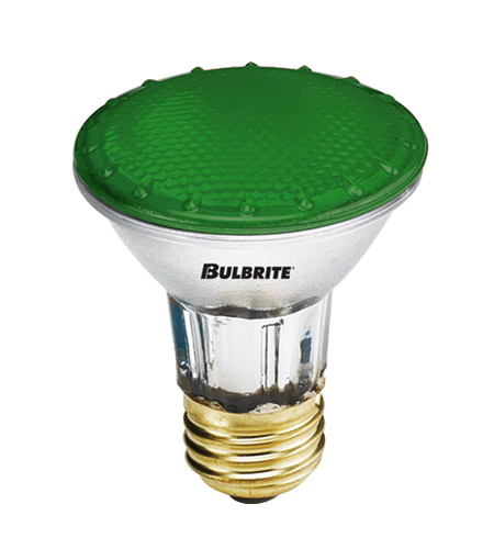 Bulbrite H50PAR20G-4PK PARs Colors Halogen PAR20 E26 50 watt 120V 2900K Bulb, Pack of 4 photo
