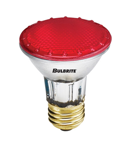 Bulbrite H50PAR20R-4PK PARs Colors Halogen PAR20 E26 50 watt 120V 2900K Bulb, Pack of 4 photo