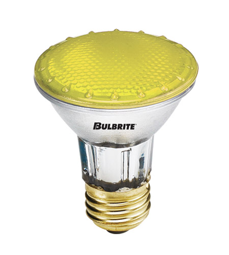 Bulbrite H50PAR20Y-4PK PARs Colors Halogen PAR20 E26 50 watt 120V 2900K Bulb, Pack of 4 photo