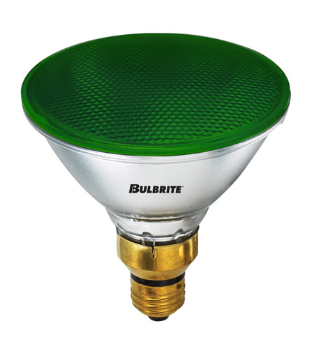 Bulbrite H90PAR38G PARs Halogen PAR38 E26 90 watt 120V 2800K Bulb in Green photo
