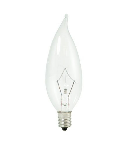 Bulbrite KR25CFC/32 Krystal Touch Krypton CA10 E12 25 watt 120V 3000K Bulb photo