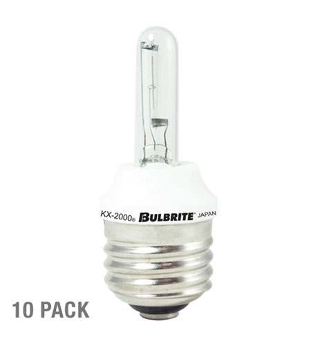 Bulbrite 20W KX-2000 Krypton/Xenon T3 Bulb Clear, Medium Base, 10-Pack KX20CL/E26-10PK photo