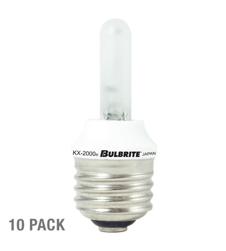 Bulbrite KX60FR/E26-10PK Krypton/Xenon Dimmable Krypton/Xenon T3 E26 60 watt 120V 2700K Bulb in Frost, 10 photo